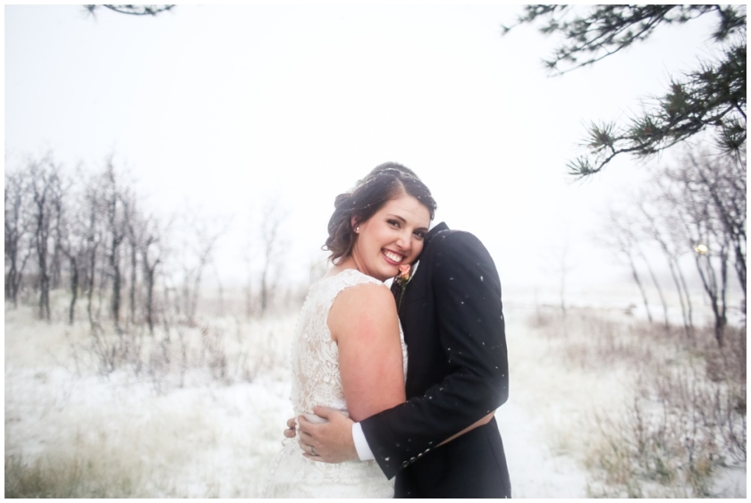 Colorado Springs Wedding in the snow