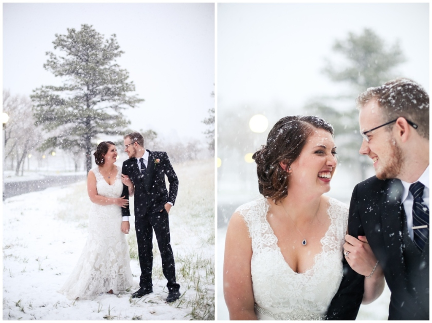 Snowy Colorado Springs Wedding